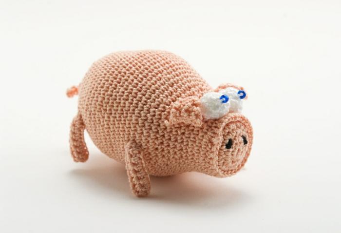 cochon rose débuter au crochet amigurumi modèle