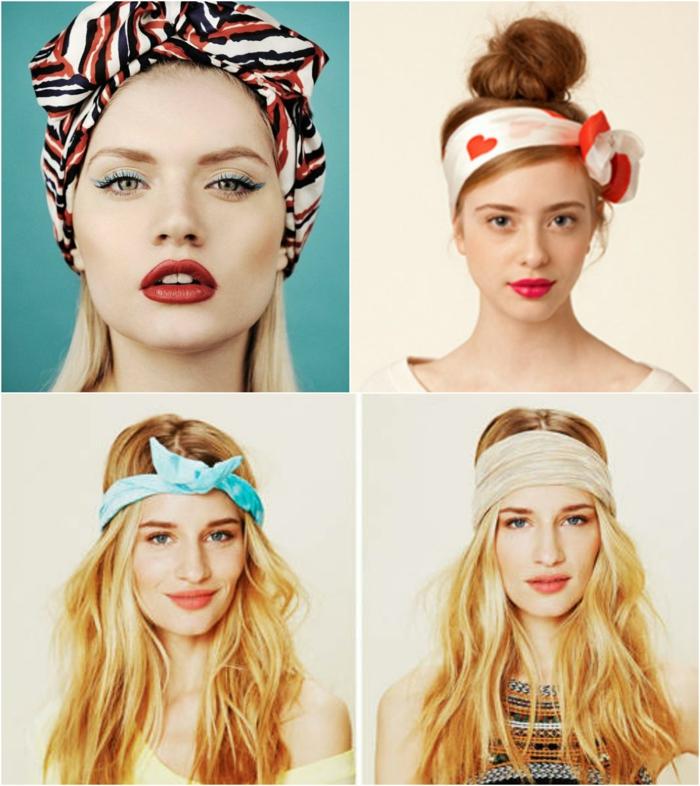 coiffures nouer foulard cheveux