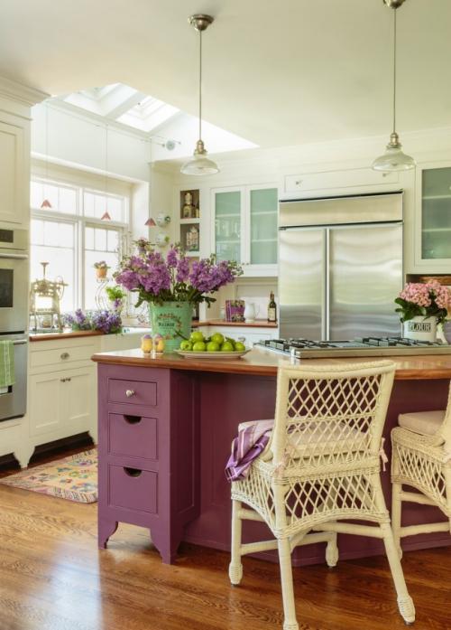 cuisine en couleurs style vintage