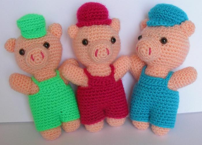 débuter au crochet amigurumi modèle cochons