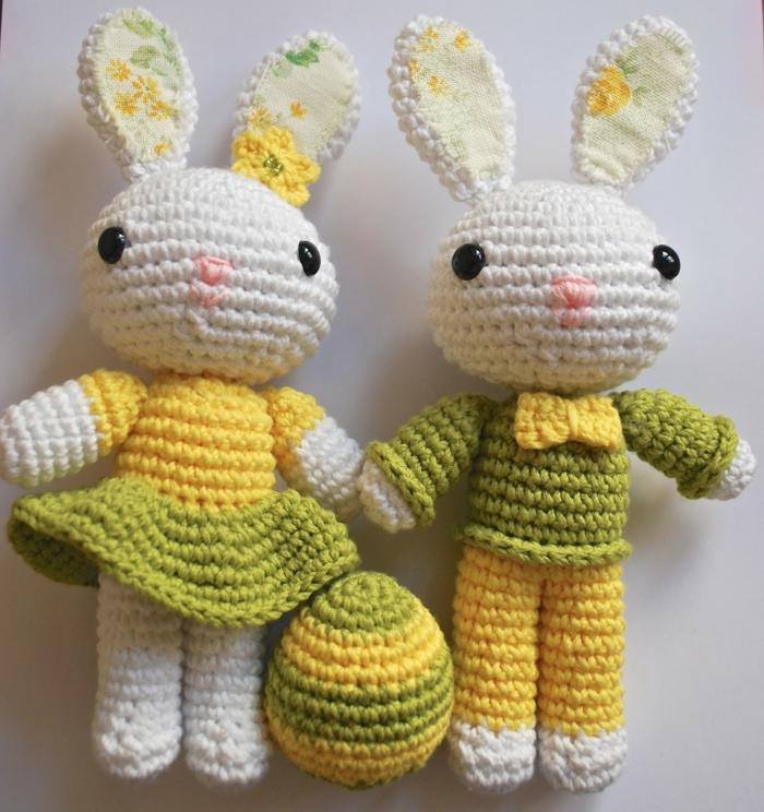 débuter au crochet amigurumi modèle famille lapins
