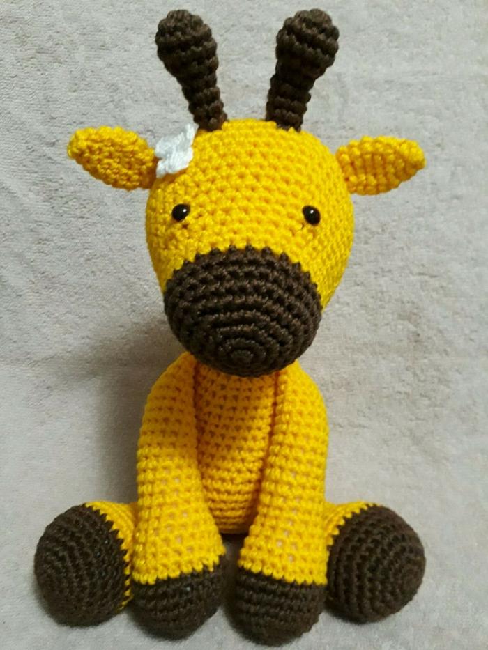 débuter au crochet amigurumi modèle girafe