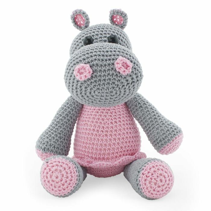 débuter au crochet amigurumi modèle hippopotame
