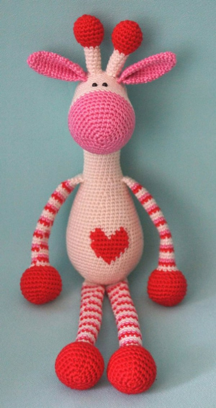 débuter au crochet amigurumi modèle jouet girafe