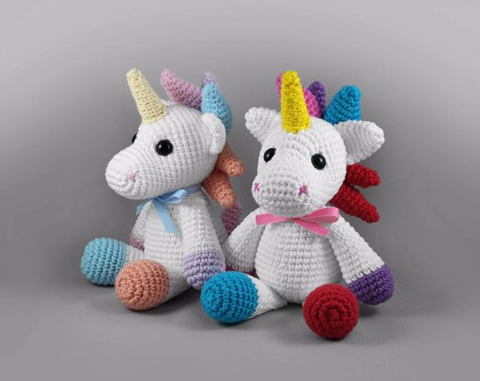 débuter au crochet amigurumi modèle jouets licornes