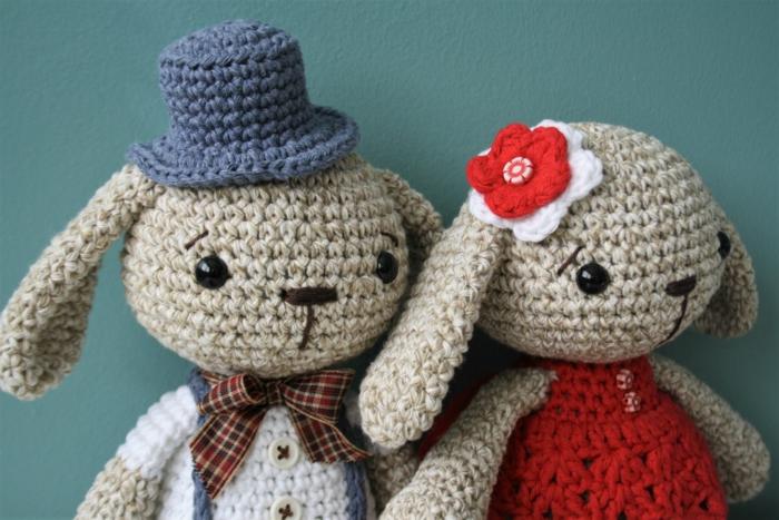 débuter au crochet amigurumi modèle lapins chic
