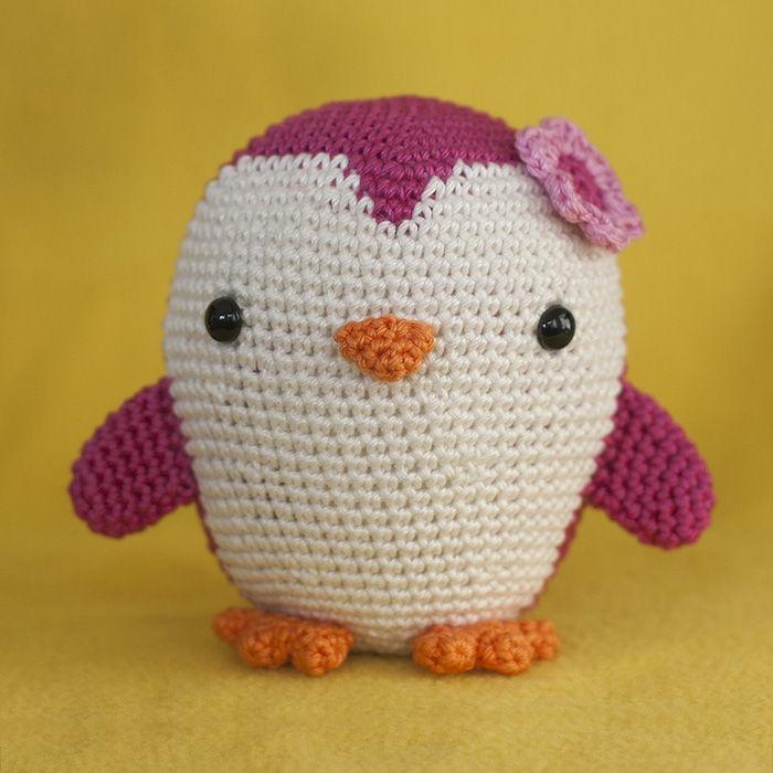débuter au crochet amigurumi modèle pingouin