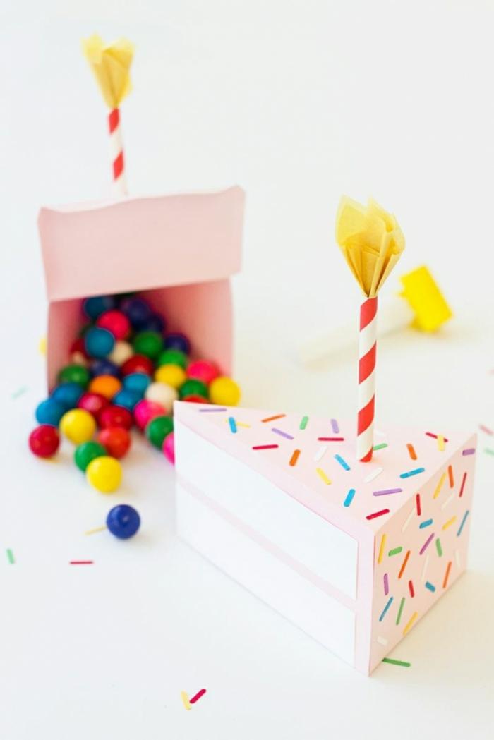 anniversaire avec une boite dragées décorée