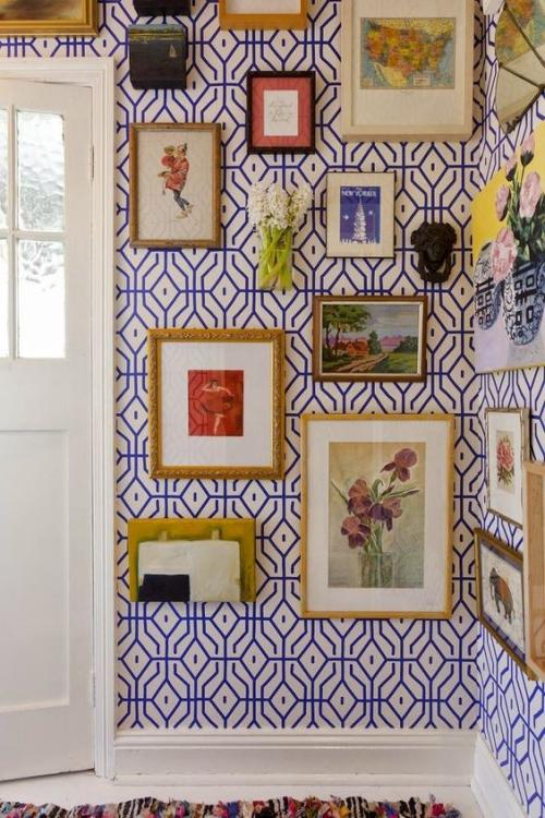 déco avec motifs mur en figures géométriques