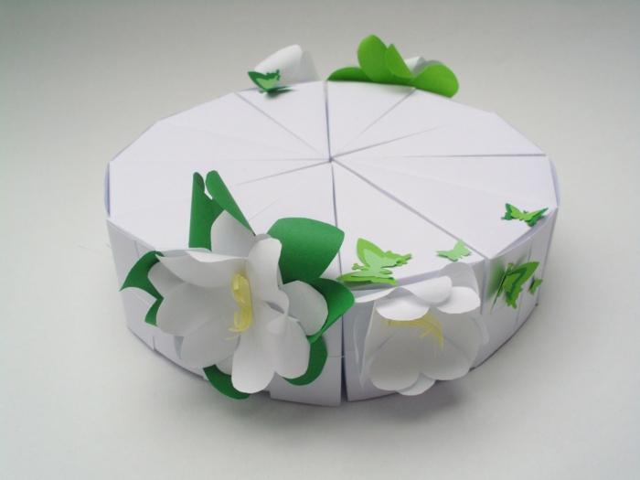 déco boite dragées avec du papier