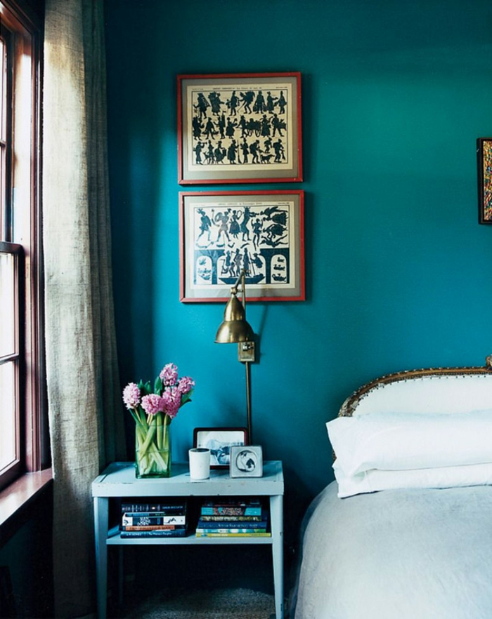 déco chambre quelle couleur associer au bleu pétrole