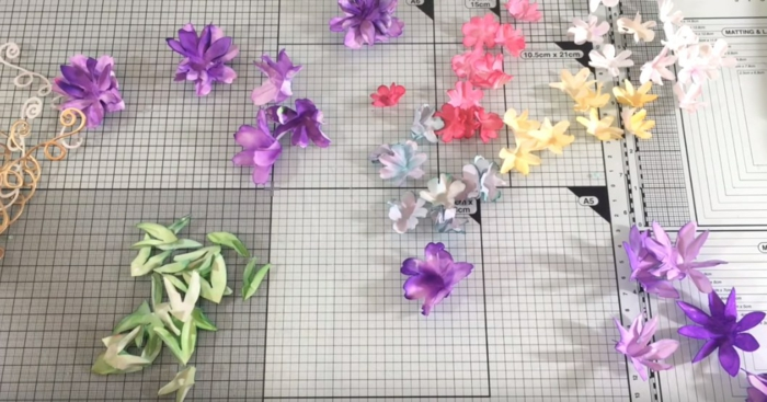 déco florale boite dragées