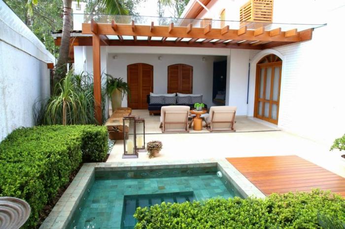 déco petit jardin avec piscine