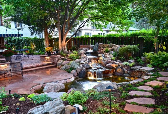 déco petit jardin en rocaille