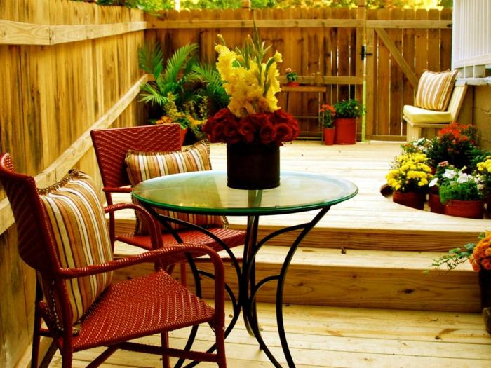 déco petit jardin mobilier élégant