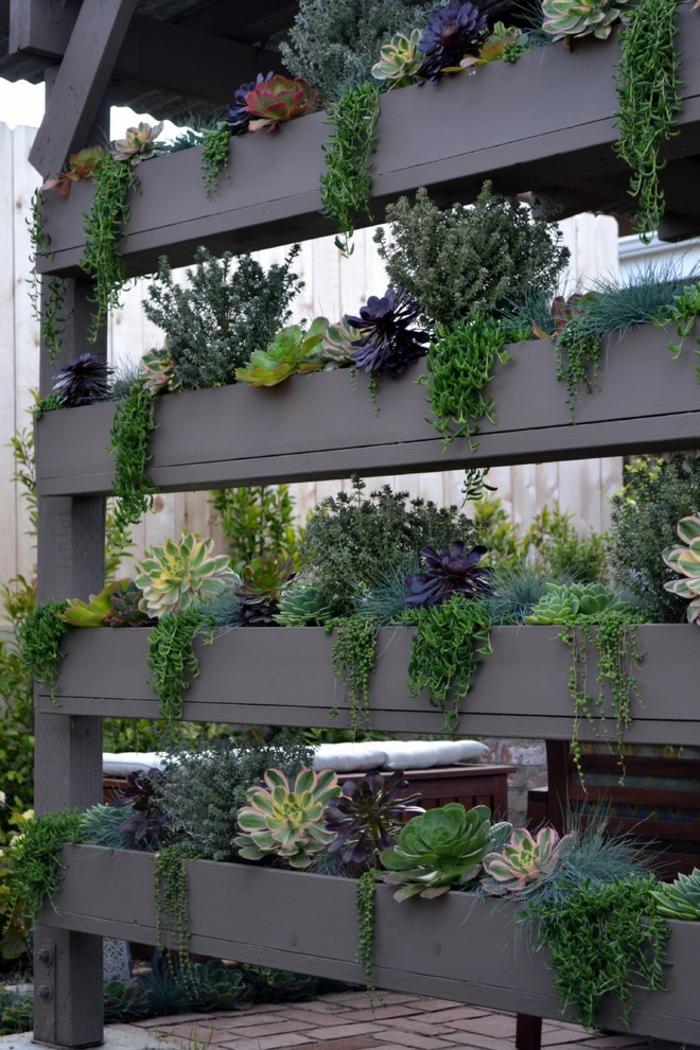 déco petit jardin mur végétal