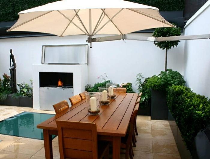 déco petit jardin parasol mural