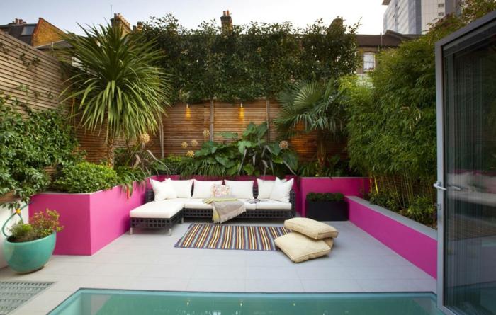 déco petit jardin patio mobilier chic