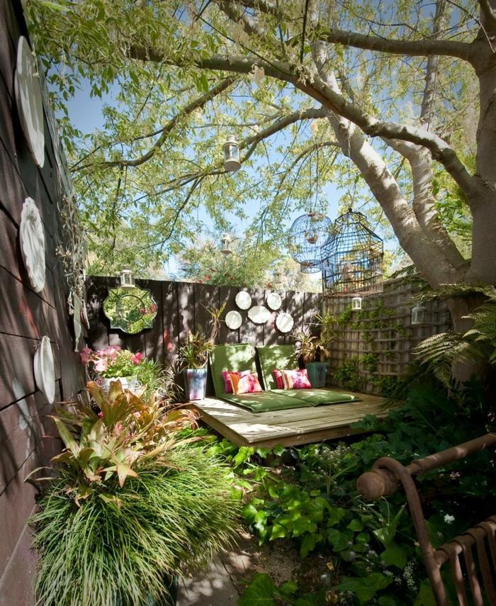 déco petit jardin romantique