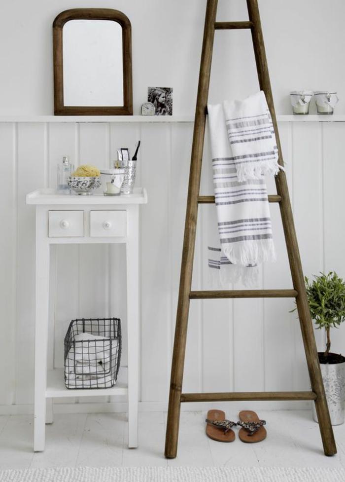 Chelle bois d co id es comment l 39 int grer dans votre maison - Echelle bois salle de bain ...