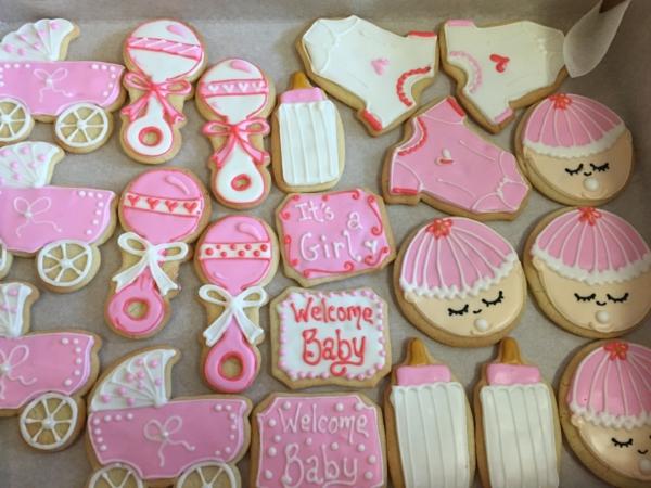 décoration baby shower biscuits thématiques