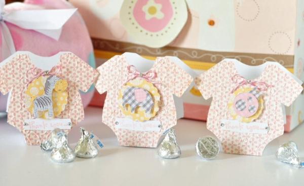 décoration baby shower body bébé en papier
