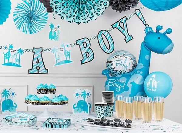 décoration baby shower en bleu
