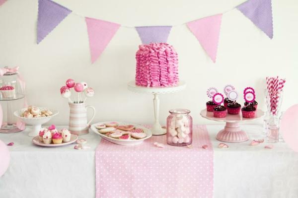 décoration baby shower en rose