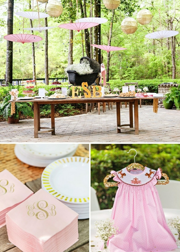 décoration baby shower style campagne chic