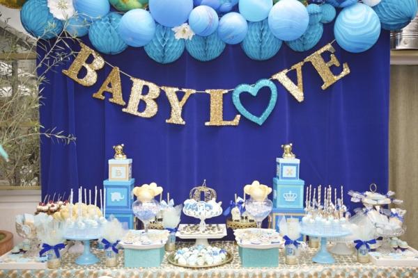 décoration baby shower thème bébé royal