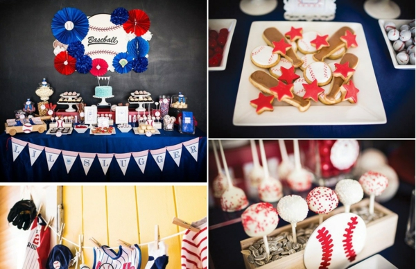 décoration baby shower thème baseball