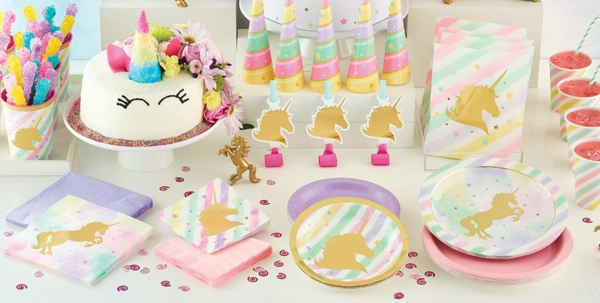 décoration baby shower thème licorne