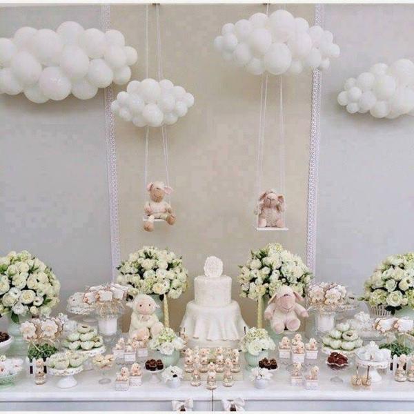 décoration baby shower thème petit agneau