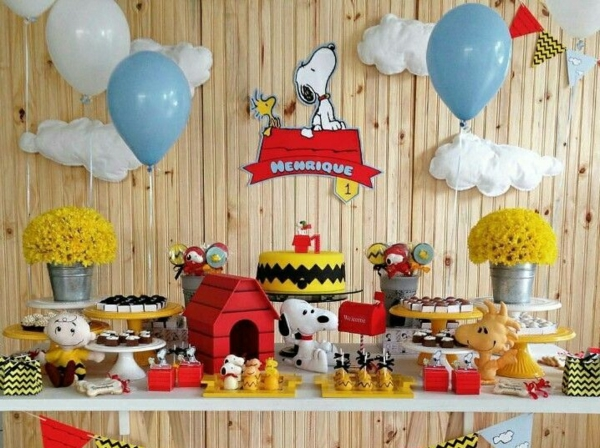 décoration baby shower thème snoopy