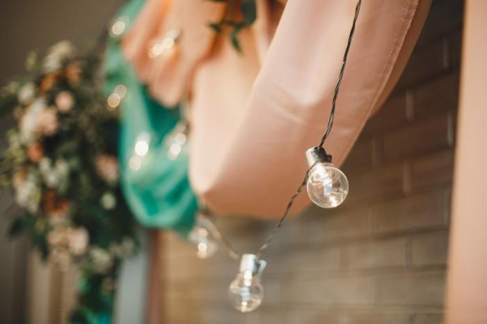 décoration festive mariage guirlande guinguette