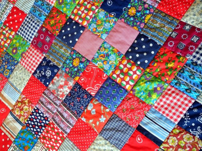 design coussin patchwork
