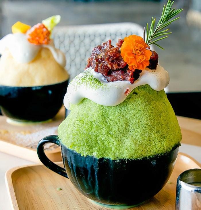 dessert délicieux kakigori thé vert