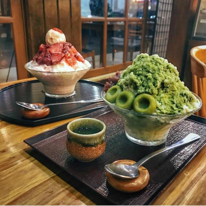 dessert rafraîchissant kakigori