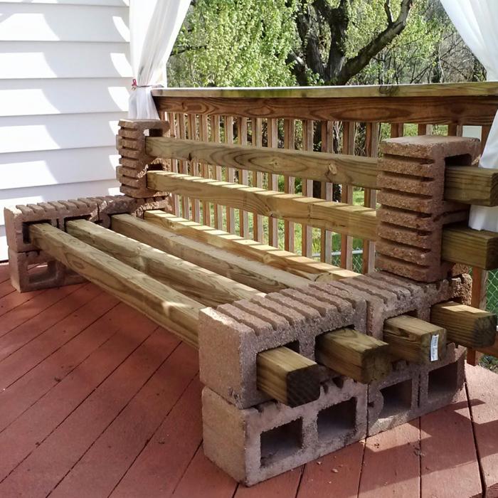 Banc De Jardin En Bois Et Parpaings U2013 Idée DIY Facile