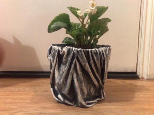 diy cache-pot ciment intérieur