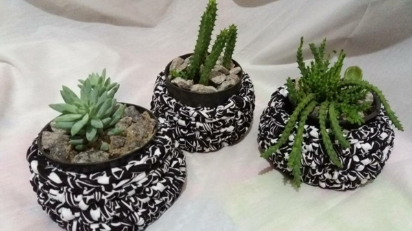 diy cache-pot pas cher crochet
