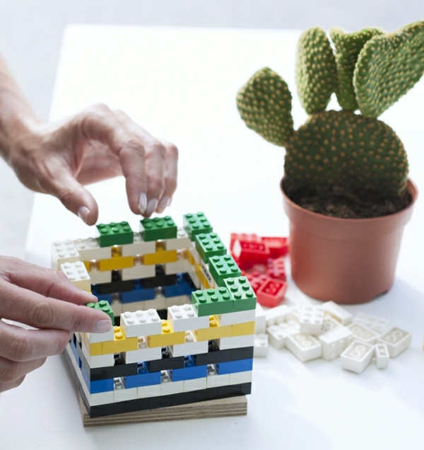 diy cache-pot pas cher en lego