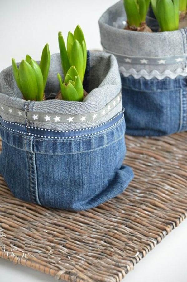 diy cache-pot pas cher jeans