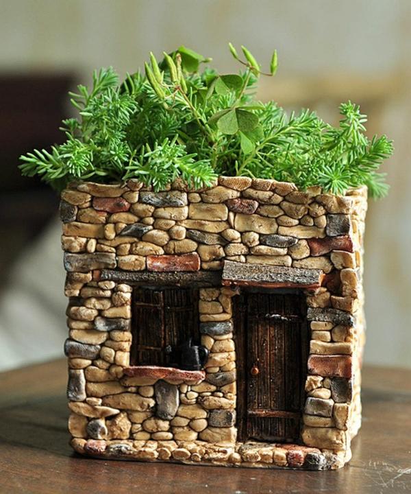diy cache-pot pas cher maison en pierres