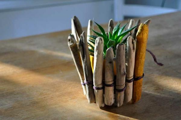 diy cache-pot pas cher matériau bois