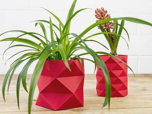 diy cache-pot pas cher origami