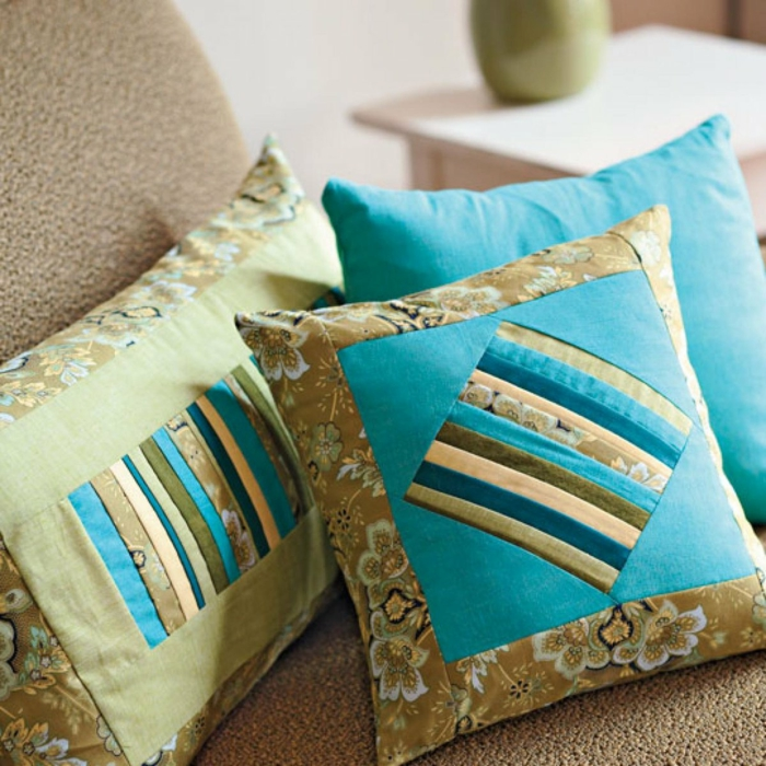 diy coussin patchwork