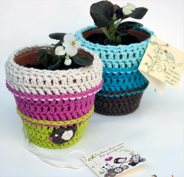 diy croché cache-pot pas cher