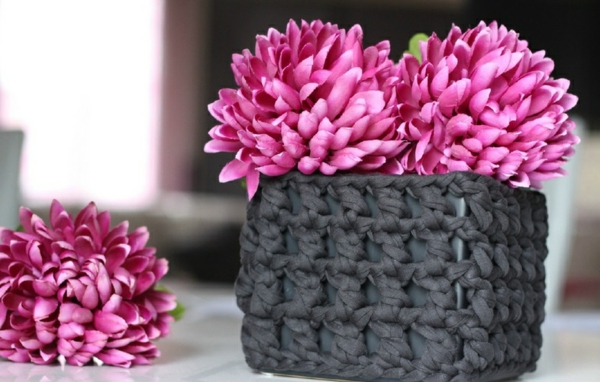 diy crochet cache-pot pas cher