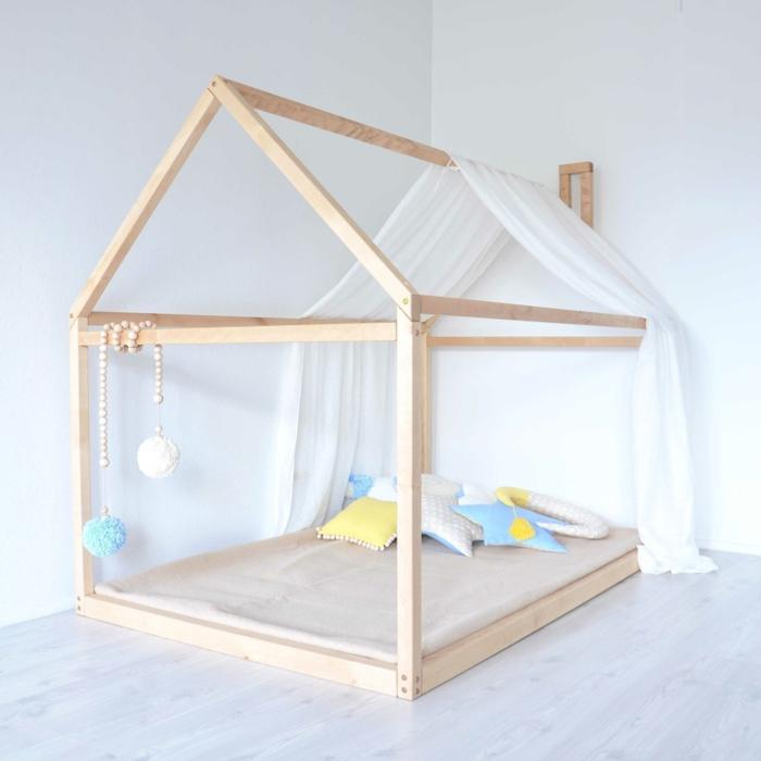 diy lit cabane montessori design épuré